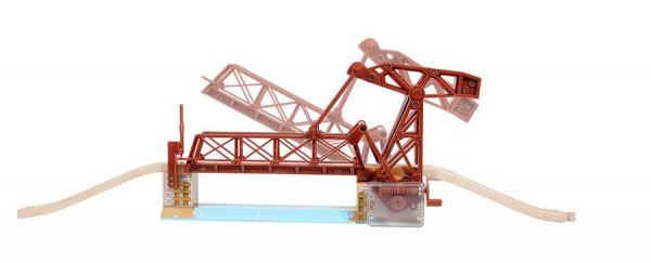Zugbrücke über den Fluß (Holzeisenbahn)