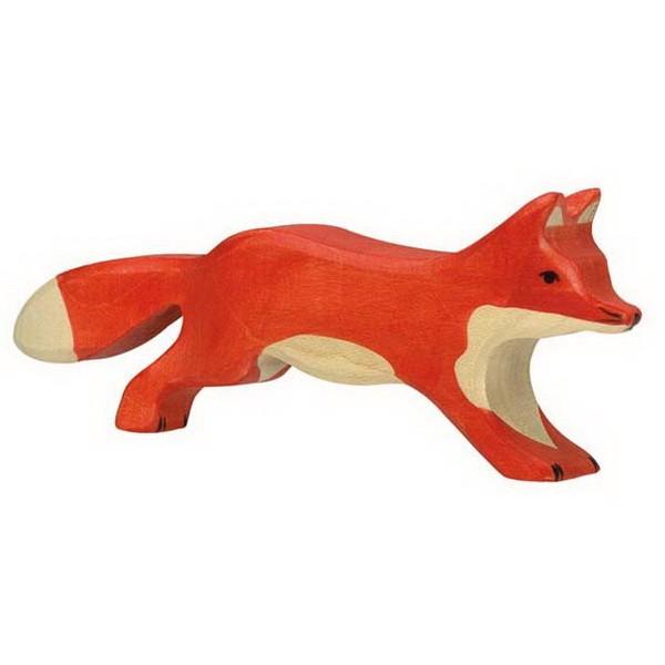Holztiger Fuchs laufend