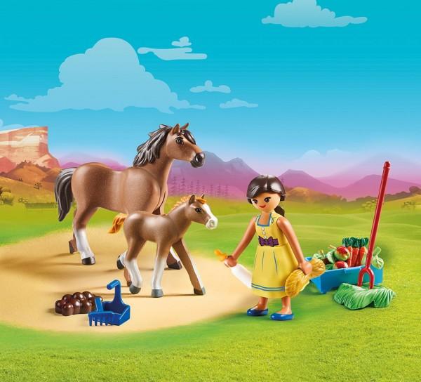 Playmobil 70122 - Pru mit Pferd und Fohlen (Spirit - Riding Free)