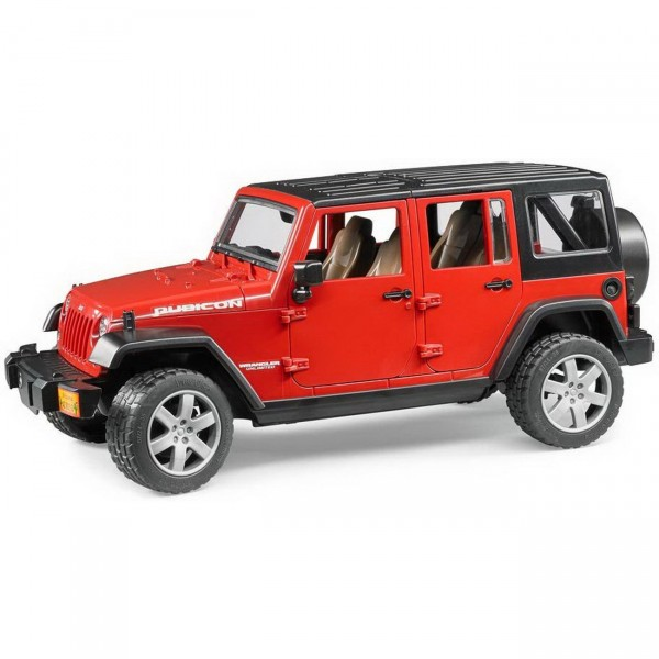 BRUDER 02525 - Jeep Wrangler Unlimited Rubicon - ROT