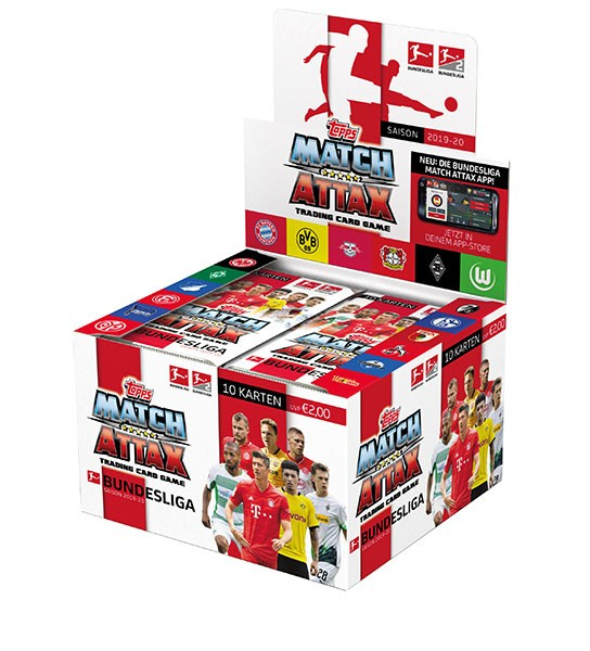 Topps Match Attax 19/20 Booster - 1 Display Box mit 36 Päckchen