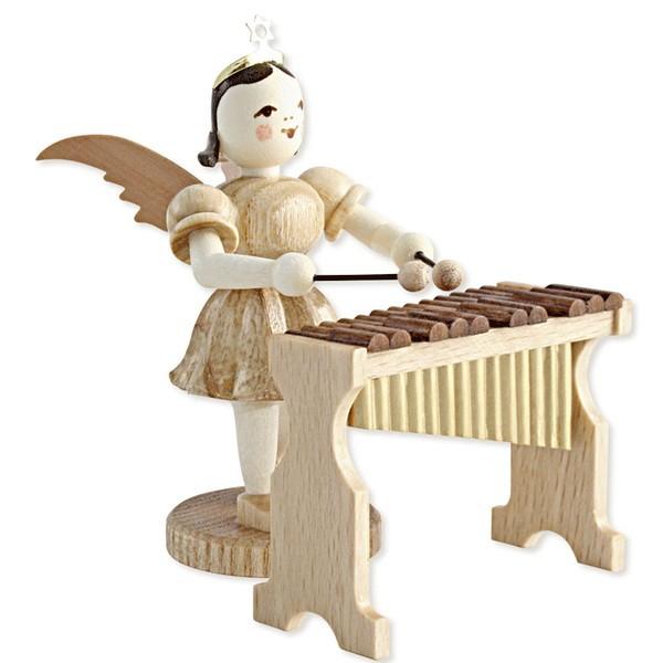 Blank Kurzrock-Engel am Xylophon