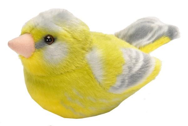 Grünfink Plüsch mit echter Vogelstimme