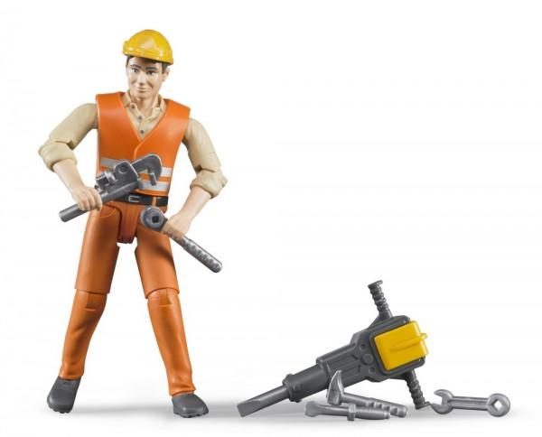 bworld 60020 - Bauarbeiter mit Zubehör