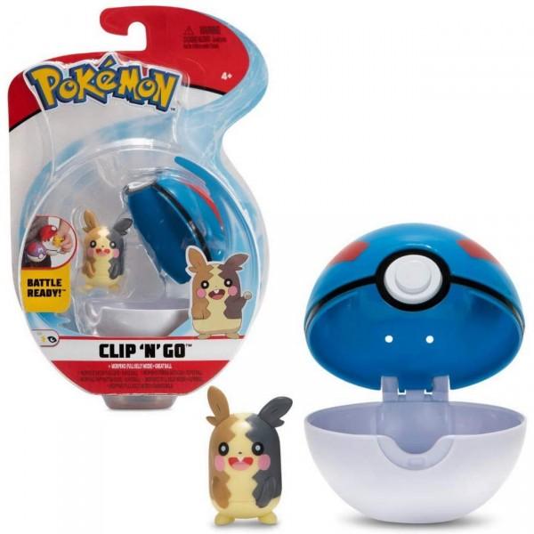 Morpeko mit Superball - Pokemon Clip N Go (Boti 37253)