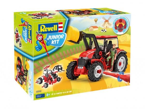 Revell Junior Kit - Traktor mit Lader und Figur (00815)