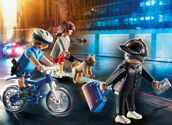 Playmobil 70573 - Polizei-Fahrrad: Verfolgung des Taschendiebs (City Action)