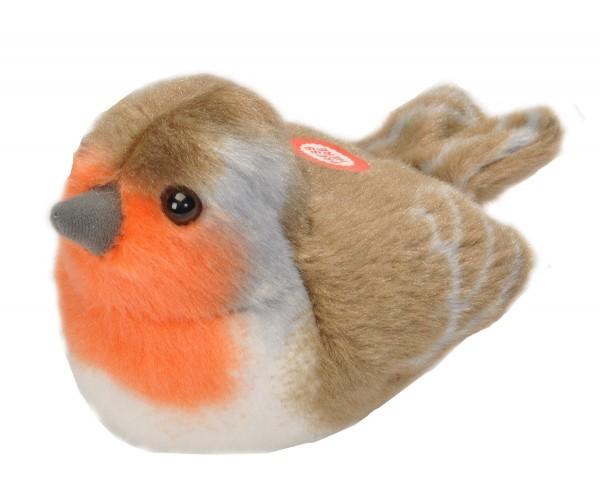 Rotkehlchen Plüsch mit echter Vogelstimme