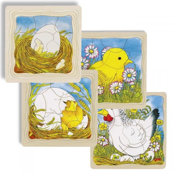 Schichtenpuzzle Das Huhn (goki)