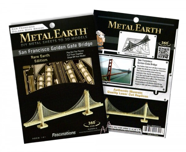 Metal Earth - Golden Gate Bridge (gold)