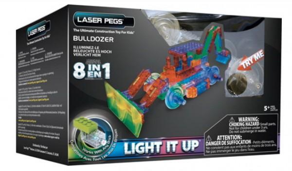 LASER PEGS 8-in-1 Bulldozer (Mercopol PB1420B)