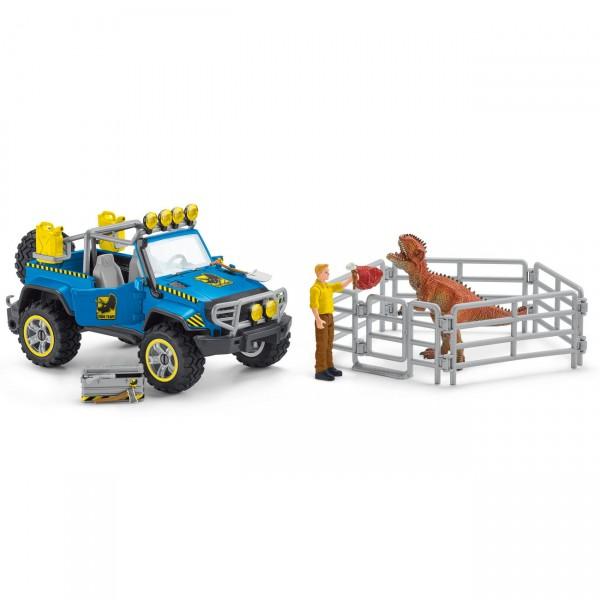 Geländewagen mit Dino Außenposten - Schleich (41464) Dinosaurier