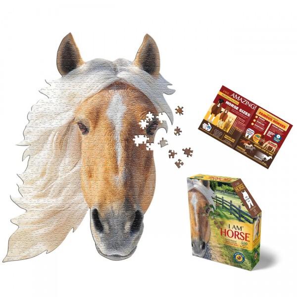 Konturen Puzzle Pferd (Madd Capp)