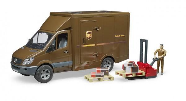 BRUDER 02538 - MB Sprinter UPS mit Fahrer Zubehör