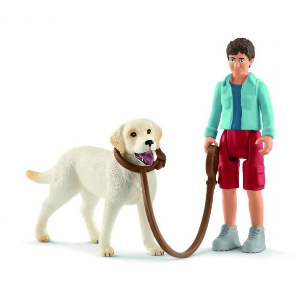 Spaziergang mit Labrador Retriever - Schleich (42478) Figuren