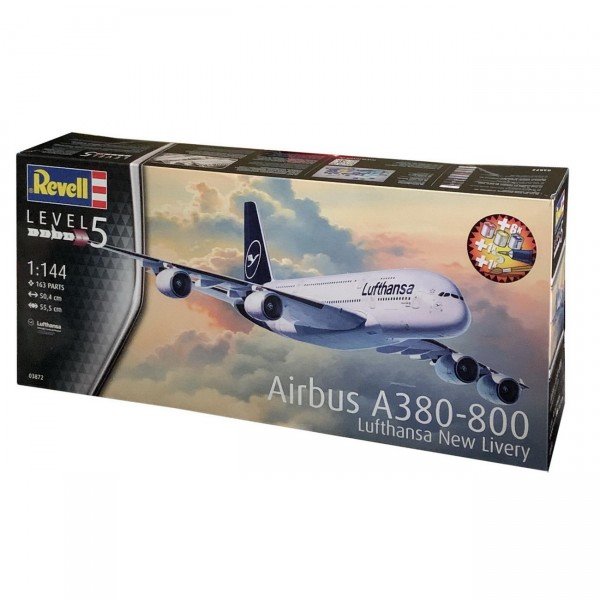 Revell 03872 - Airbus A380-800 Lufthansa New Livery - Bundle