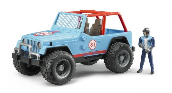 BRUDER 02541 - Jeep Cross Country Racer blau mit Rennfahrer