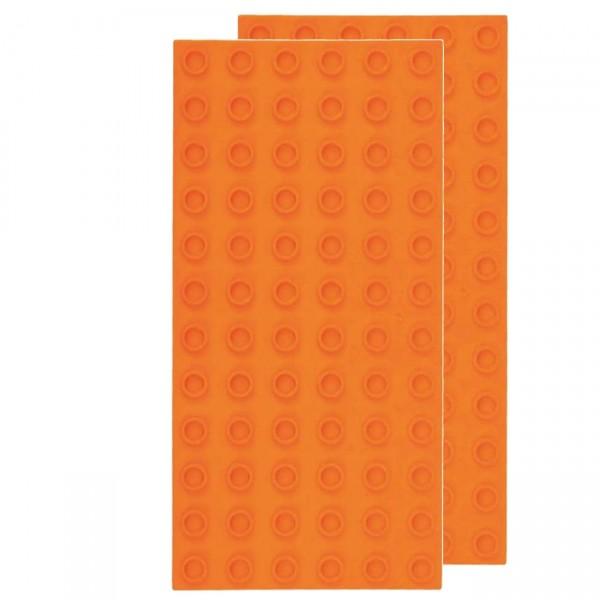 Strictly Briks Big Grundplatte orange 2er