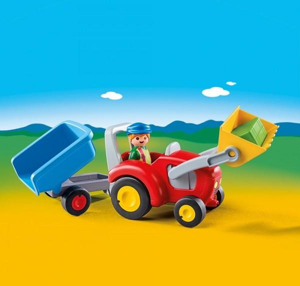 Playmobil 6964 - 1.2.3 Traktor mit Anhänger
