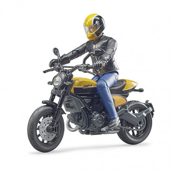 BRUDER 63053 - Scrambler Ducati Full Throttle Motorrad mit Fahrer (63053)