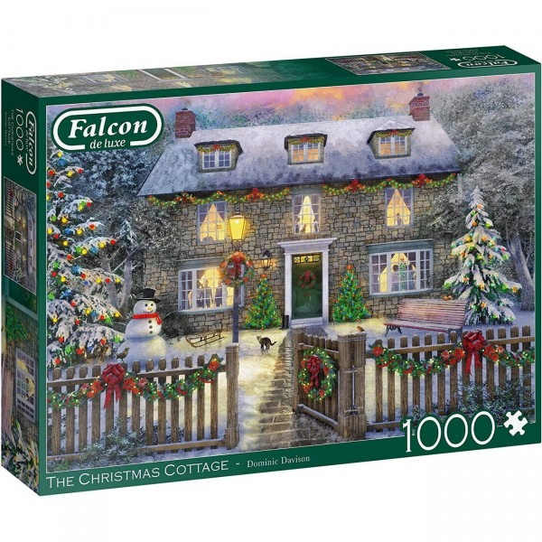 Puzzle - Weihnachtshaus - Christmas Cottage (Falcon de Luxe) - 1000 Teile