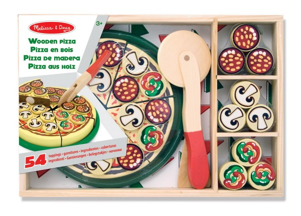 Pizza aus Holz