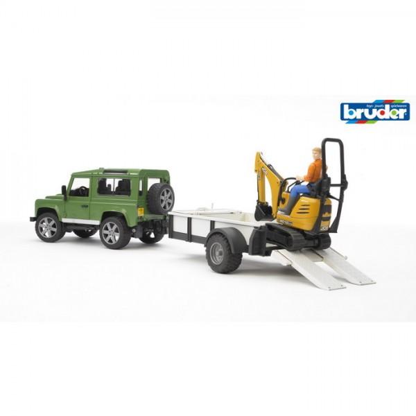 BRUDER 02593 - Land Rover Defender Anhänger Set