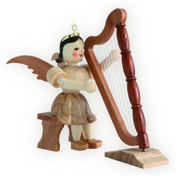 Blank Kurzrock-Engel mit Harfe sitzend (Blank)