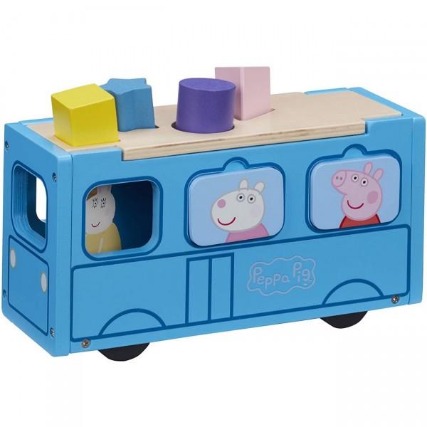 Peppa Pig Steckbox Schulbus Holz (Boti 37215)