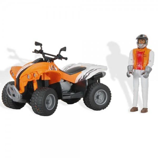 BRUDER 09032 - Quad Racer orange/ weiß