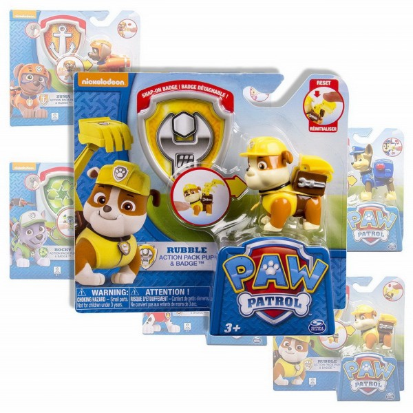 Rubble - Paw Patrol Action Pack Pup