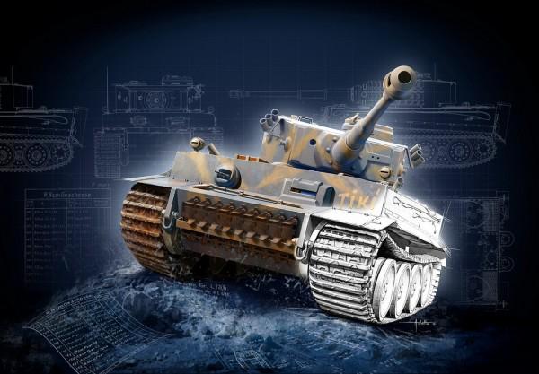 Revell 05790 - Geschenkset Tiger I E 75th Anniversary