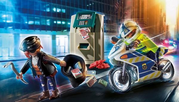 Playmobil 70572 - Polizei-Motorrad: Verfolgung des Geldräubers (City Action)