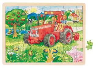 Einlegepuzzle Traktor (goki)