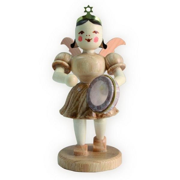 Blank Kurzrock-Engel mit Tamburin