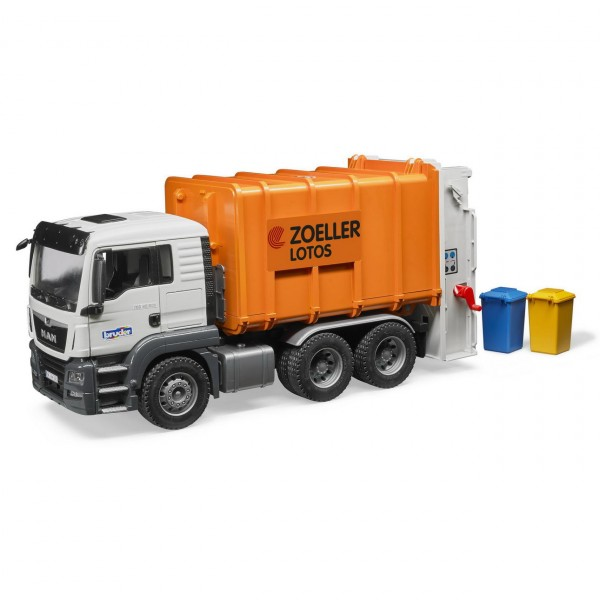 BRUDER 03762 - MAN TGS Hecklader Müll-LKW