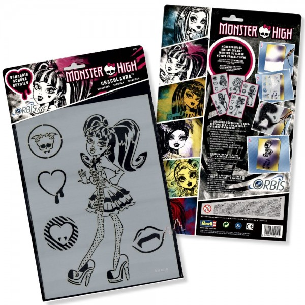 Orbis Schablone XL - Draculaura 30217 Monster High