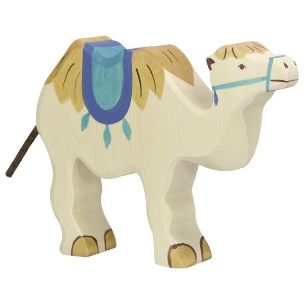 Holztiger Kamel mit Sattel (80165)