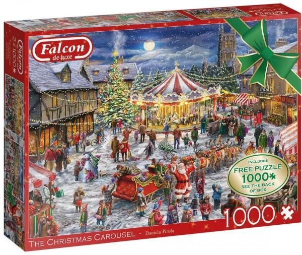 Puzzle - The Christmas Carousel (Falcon de Luxe) - 2x 1000 Teile