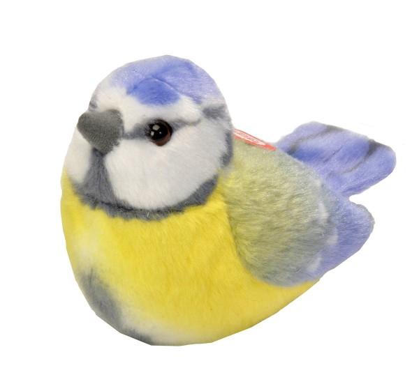 Blaumeise Plüsch mit echter Vogelstimme