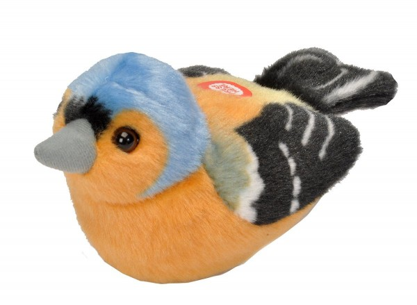 Buchfink Plüsch mit echter Vogelstimme