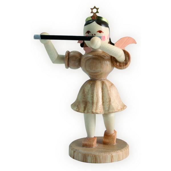 Blank Kurzrock-Engel mit Querflöte