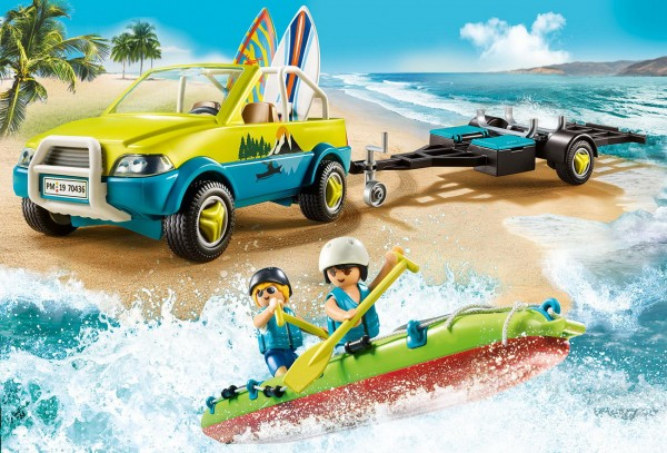 Playmobil 70436 - Strandauto mit Kanuanhänger - Family Fun