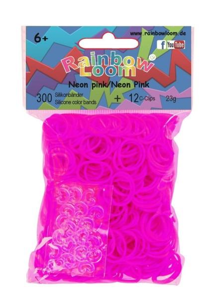 Rainbow Loom - Neon pink (300er)
