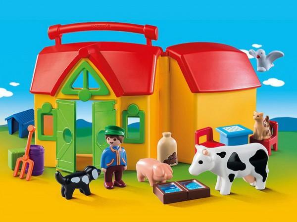 Playmobil 6962 - 1.2.3 Mein Mitnehm-Bauernhof
