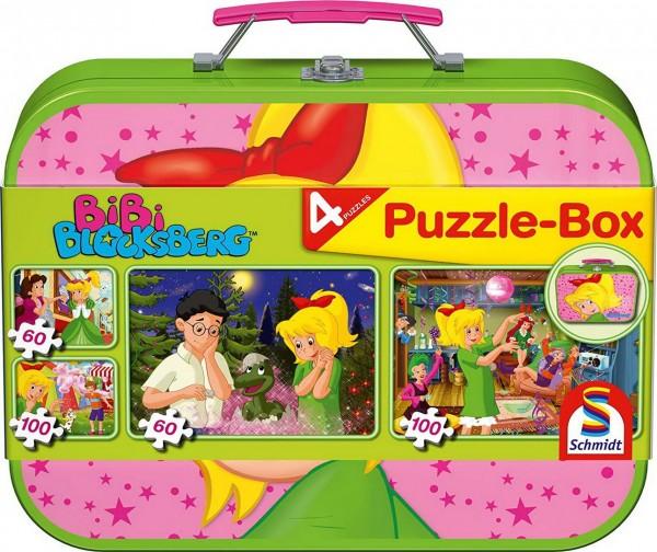 Puzzle Box - 4 Bibi Blocksberg Puzzle im Metallkoffer (Schmidt 55595)