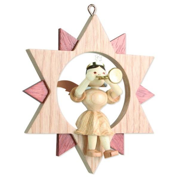 Engel mit Trompete im Stern