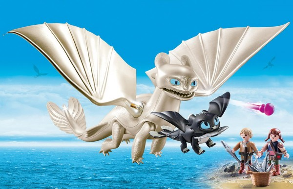 Playmobil 70038 - Tagschatten Light Fury Spielset (Dragons)