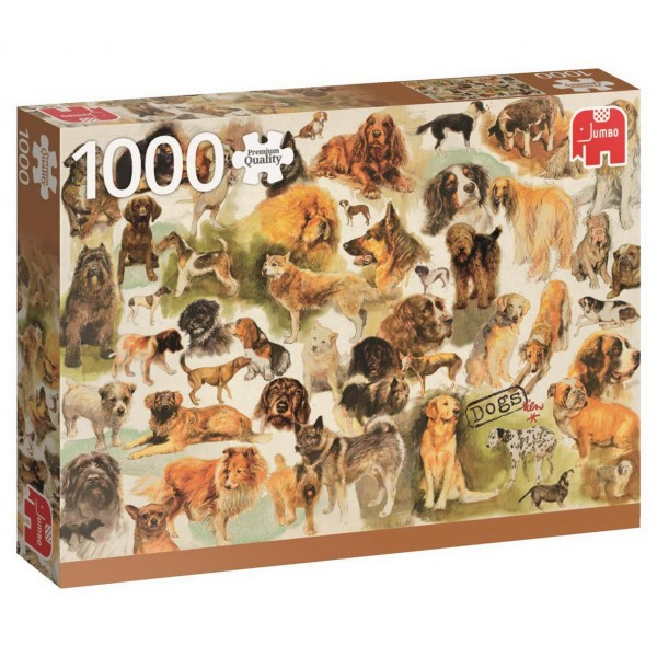 Puzzle - Hunde Poster Rien Poortvliet - 1000 Teile