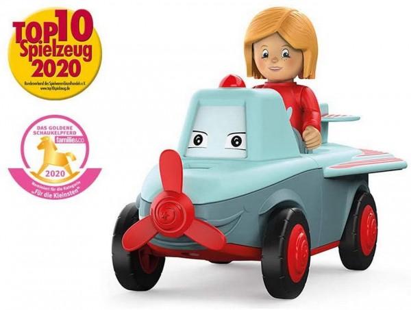 SIKU 0108 - Toddys - Paula Pretty - Flugzeug Auto blaugrau rot